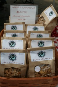 Our Daughter Jeannine makes the best maple granola,  I put it on out goat yogurt--just right!